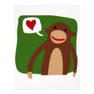monkey love custom flyer