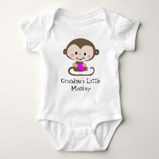 Monkey Love - Grandma's Little Monkey (Customize) Baby Bodysuit