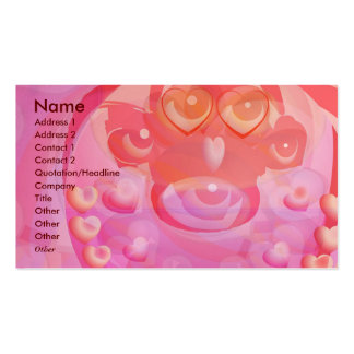 MONKEY Love - Heart Garlands Double-Sided Standard Business Cards (Pack Of 100)
