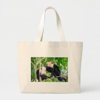 Monkey Love Large Tote Bag