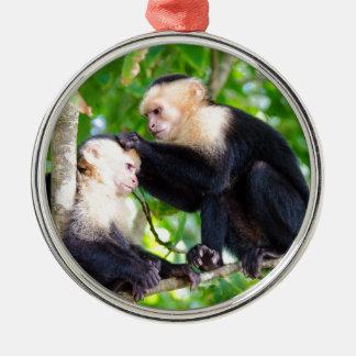 Monkey Love Metal Ornament