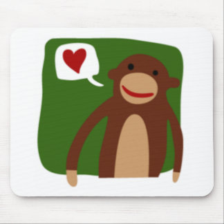 monkey love mouse pad