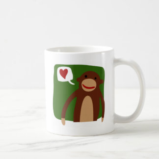 monkey love basic white mug