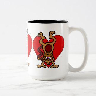 Monkey Love Two-Tone Mug