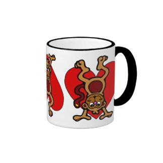 Monkey Love Ringer Mug