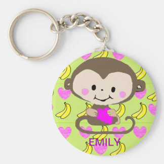 Monkey Love - Personalized Keychain