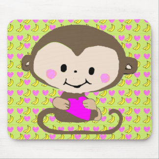 Monkey Love - Personalized Mouse Pad