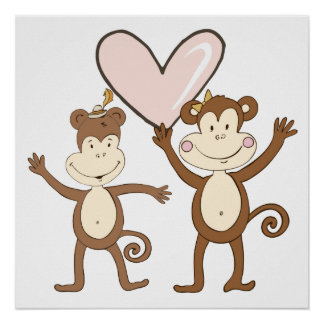 Monkey Love Posters