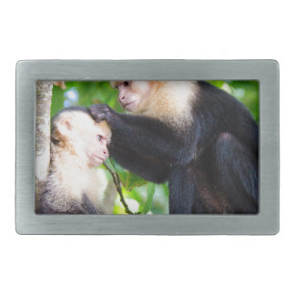 Monkey Love Rectangular Belt Buckle
