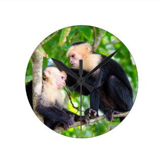 Monkey Love Round Clock