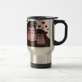 Monkey love travel mug