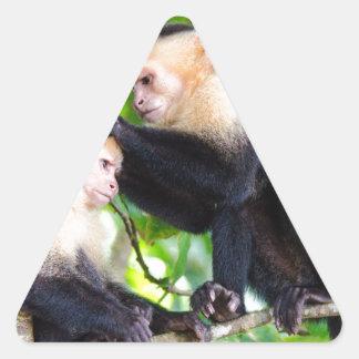 Monkey Love Triangle Sticker