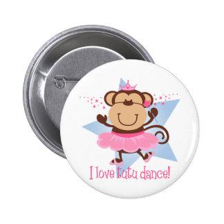 Monkey Love Tutu Dance Button