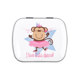 Monkey Love Tutu Dance Jelly Belly Tin