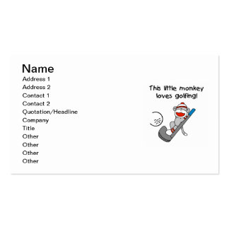 Monkey Loves Golfing T-shirts and Gifts Business Card
