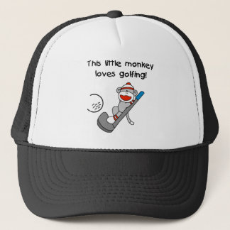 Monkey Loves Golfing Trucker Hat