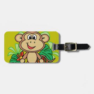 monkey luggage tag