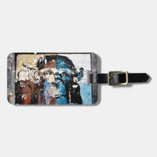 Monkey Luggage Tag w/ leather strap