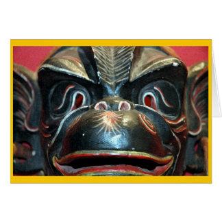 Monkey Mask #2 Card