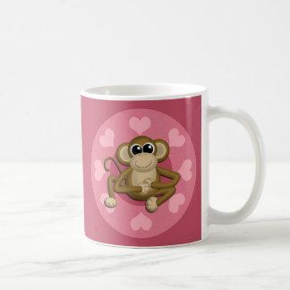 Monkey Me Pink Love mug
