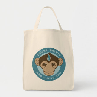 Monkey Mind Chalice Grocery Tote Bag