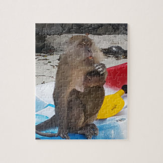 Monkey Mother & Baby Jigsaw Puzzle