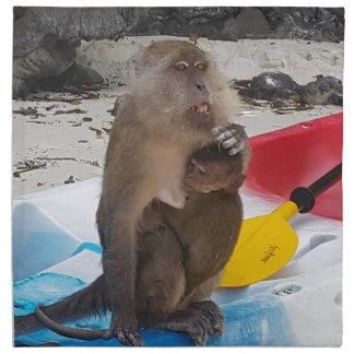 Monkey Mother & Baby Napkin