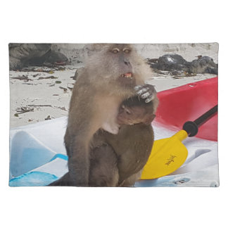 Monkey Mother & Baby Placemat