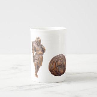 Monkey Netsuke Porcelain Mug