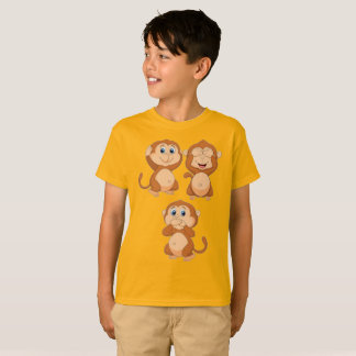 Monkey No Hear No See No Speak T-Shirt
