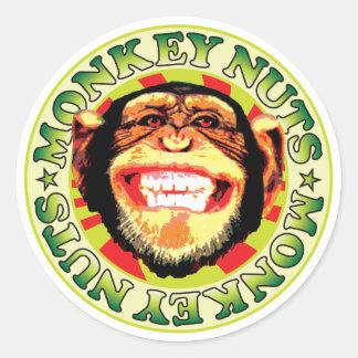Monkey Nuts Classic Round Sticker