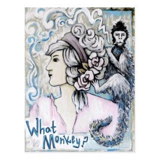 Monkey On my Back, Art Products Postcard