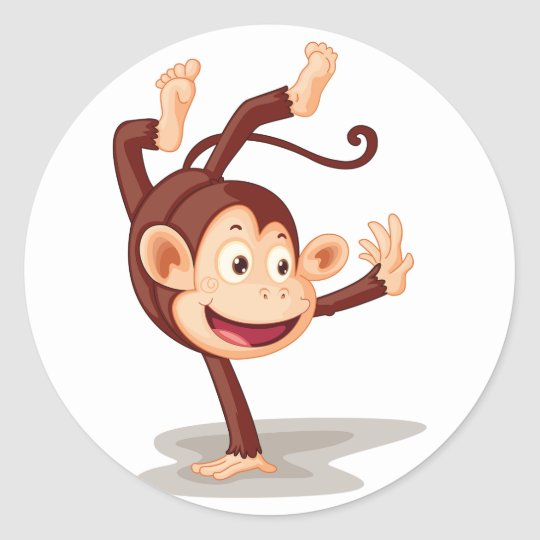 Monkey On One Hand Stickers