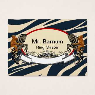 Monkey on Zebra Business Card