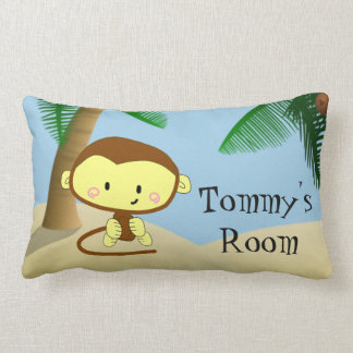 Monkey Palm Tree Jungle Child's Room Pillow Name