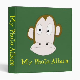 Monkey Photo Album Binder Template