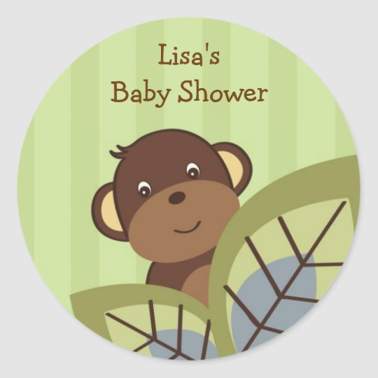 Monkey Play Jungle Monkey Envelope Seals Stickers