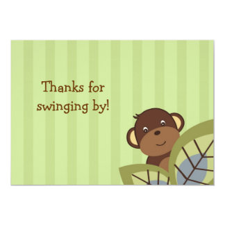 Monkey Play Jungle Monkey Thank You Note Cards