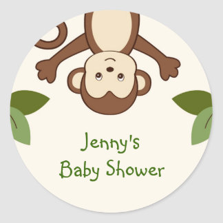 Monkey Play Jungle Stickers Envelope Seals