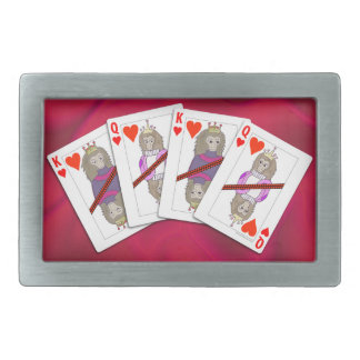 Monkey Playing Cards Belt Buckle
