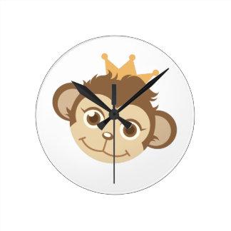 Monkey Queen Clock