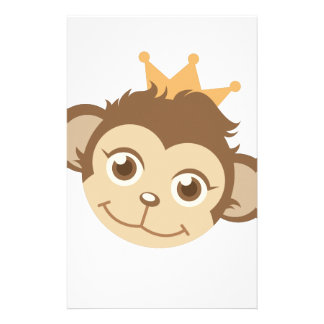 Monkey Queen Customized Stationery