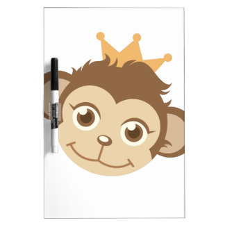 Monkey Queen Dry-Erase Whiteboard