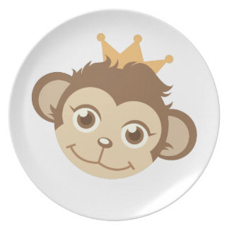 Monkey Queen Party Plate