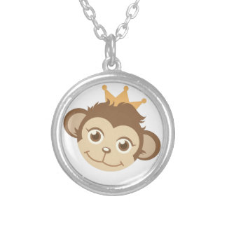 Monkey Queen Silver Plated Necklace