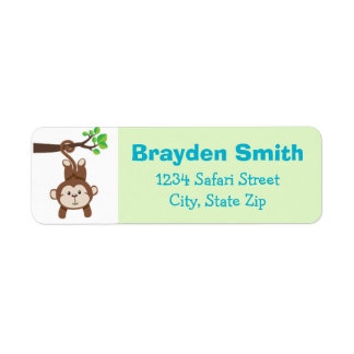 Monkey Return Address Label