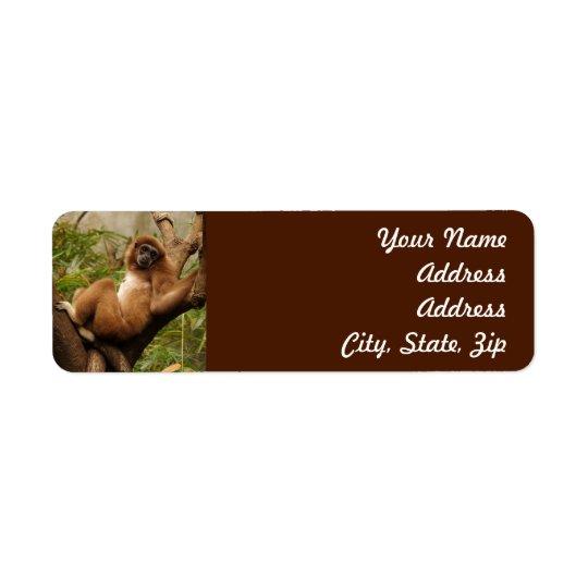 Monkey  Return Address Sticker Return Address Label