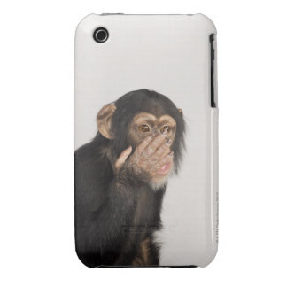 Monkey rubbing its face iPhone 3 case