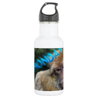 Monkey sad about monday 532 ml water bottle