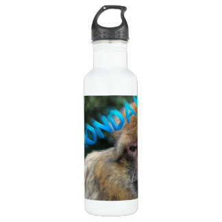 Monkey sad about monday 710 ml water bottle